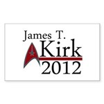 James Kirk 2012 Sticker (Rectangle 50 pk)
