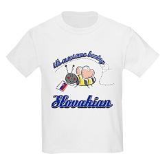 Awesome Being Slovakian Kids Light T-Shirt