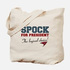 Spock for President Tote Bag