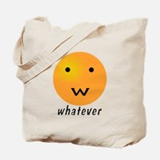 Funny Whatever Smiley Tote Bag