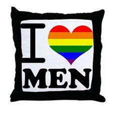 Gay Pride - I love men Throw Pillow