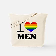 Gay Pride - I love men Tote Bag