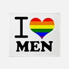 Gay Pride - I love men Throw Blanket