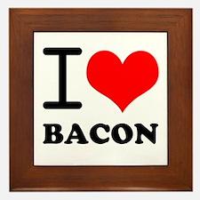 I Love Bacon Framed Tile