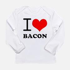 I Love Bacon Long Sleeve Infant T-Shirt