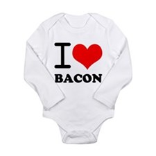 I Love Bacon Long Sleeve Infant Bodysuit
