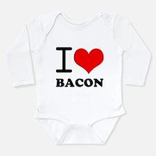 I Love Bacon Long Sleeve Infant Bodysuit