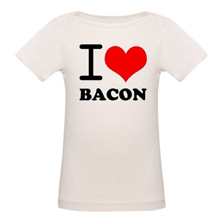 I Love Bacon Organic Baby T-Shirt