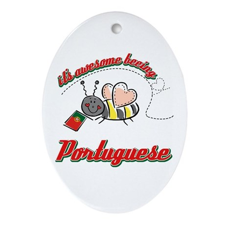 Awesome Being Portuguese Ornament (Oval)
