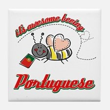 Awesome Being Portuguese Tile Coaster