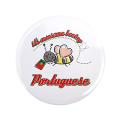 "Awesome Being Portuguese 3.5"" Button"