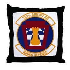 707th Airlift Squadron Throw Pillow