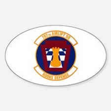 707th Airlift Squadron Oval Decal