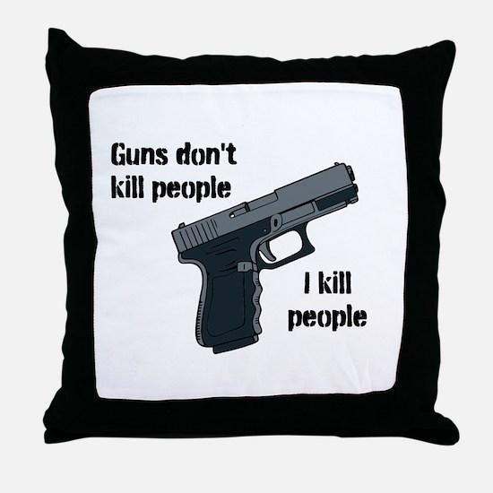 Guns don't Throw Pillow