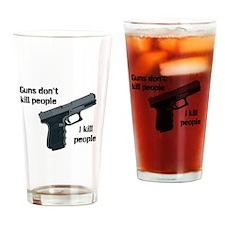 Guns don't Pint Glass