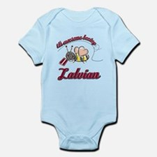 Awesome Being Latvian Infant Bodysuit