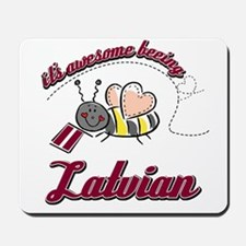 Awesome Being Latvian Mousepad