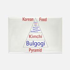 Korean Food Pyramid Rectangle Magnet (10 pack)