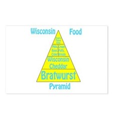 Wisconsin Food Pyramid Postcards (Package of 8)