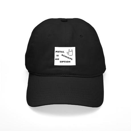Metal Option Black Cap