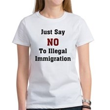 No To Illegal Immigration Tee