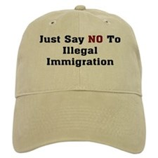 No To Illegal Immigration Baseball Cap