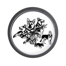 GSD Black and White collage Wall Clock
