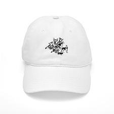 GSD Black and White collage Baseball Baseball Cap