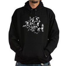 GSD Black and White collage Hoodie