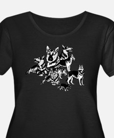 GSD Black and White collage T