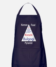 Korean Food Pyramid Apron (dark)