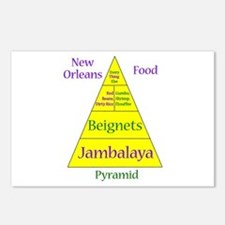 New Orleans Food Pyramid Postcards (Package of 8)