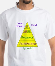 New Orleans Food Pyramid Shirt