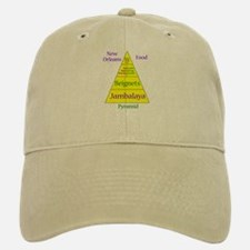 New Orleans Food Pyramid Baseball Baseball Cap