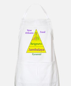New Orleans Food Pyramid Apron