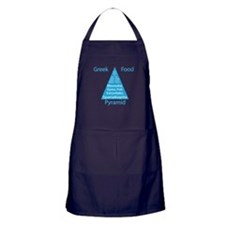 Greek Food Pyramid Apron (dark)