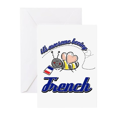 Awesome Being French Greeting Cards (Pk of 20)