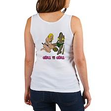 Girl VS Girl baseball Women's Tank Top