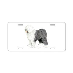 Old English Sheepdog Aluminum License Plate