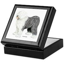 Old English Sheepdog Keepsake Box