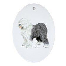 Old English Sheepdog Ornament (Oval)