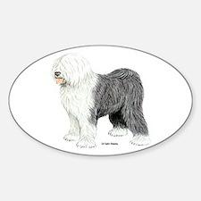 Old English Sheepdog Sticker (Oval)