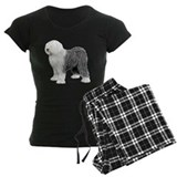 Old english sheepdog Women's Pajamas Dark