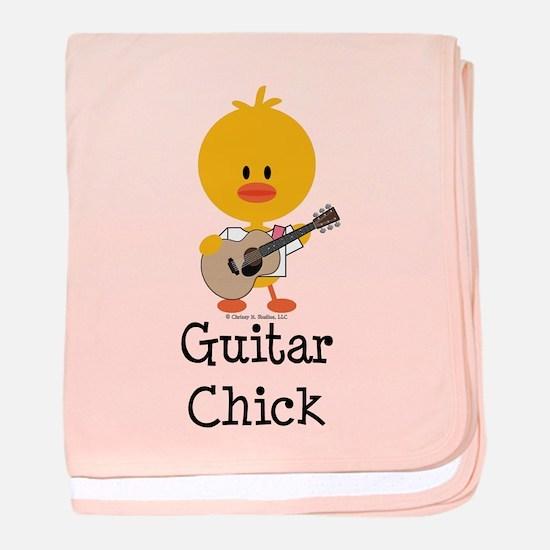 Guitar Chick baby blanket