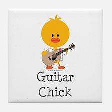Guitar Chick Tile Coaster