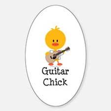 Guitar Chick Decal