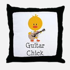 Guitar Chick Throw Pillow