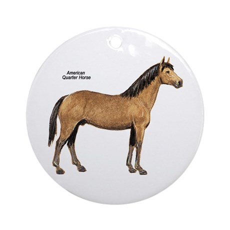 American Quarter Horse Ornament (Round)