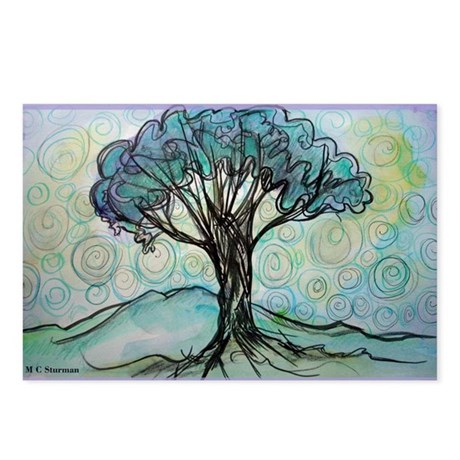 Tree, Colorful, Postcards (Package of 8)