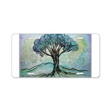 Tree, Colorful, Aluminum License Plate